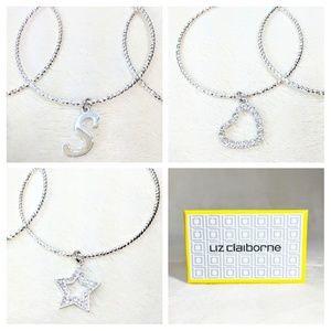 "🛍️NWT Initial ""S""Boxed Liz Claiborne Bracelet Set"